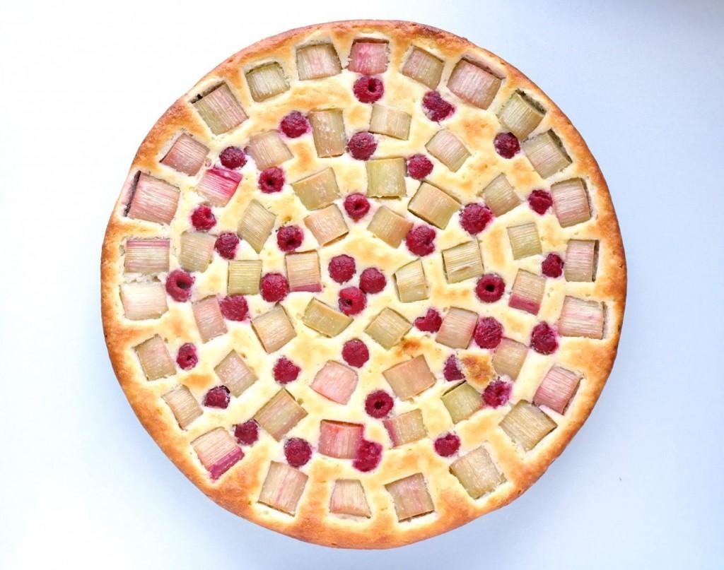 Rhabarberkuchen rund