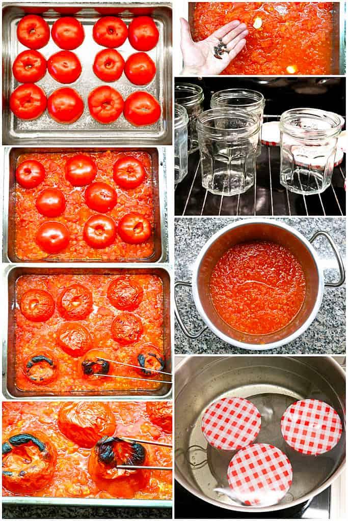 Arbeitsschritte Tomaten einkochen