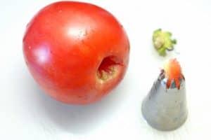 Tomate entstiehlen
