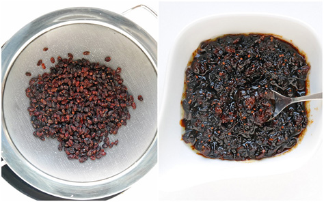 Berberitzen, gewaschen und als Kompott