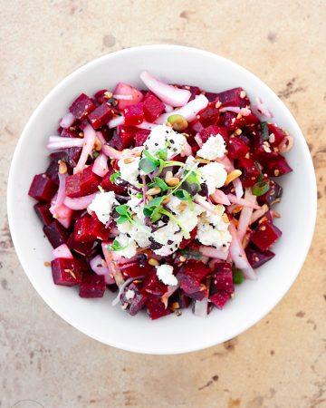 Rote Beete Salat mit Apfel + Chicorée