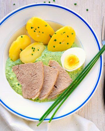 Kalbstafelspitz mit Frankfurter Grüner Soße