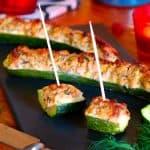 Gefüllte Zucchini mit Thunfisch