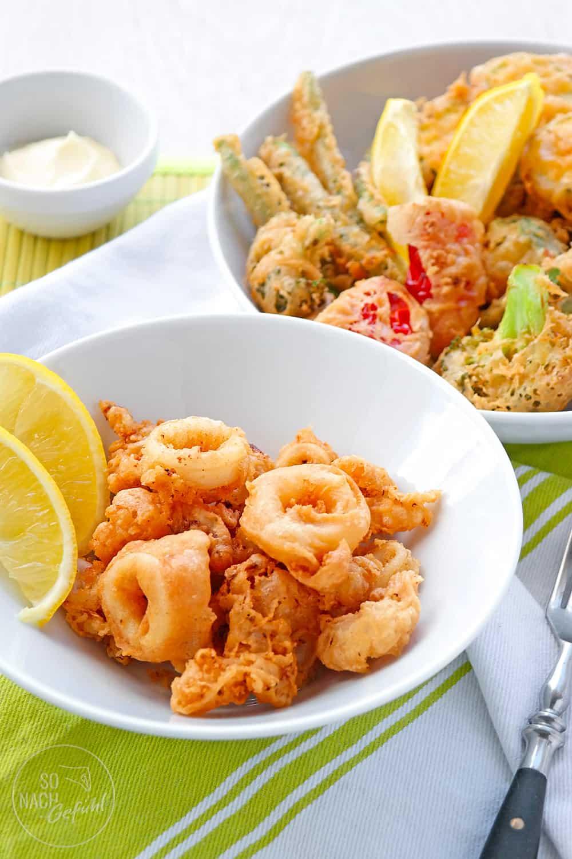 Fritto Misto – Calamari und Gemüse im Backteig