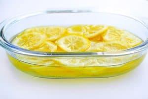 Eingelegte Salzzitronen nach 3 Tagen