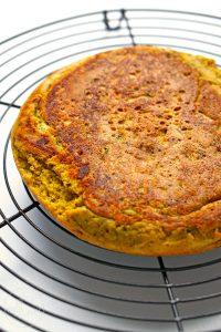 Kichererbsen-Pfannkuchen für Croutons