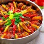 Gemüse und Köfte aus dem Ofen