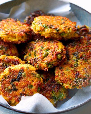 Knusprige Reistaler mit Gemüse