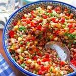 Bohnensalat mit Paprika und Apfel