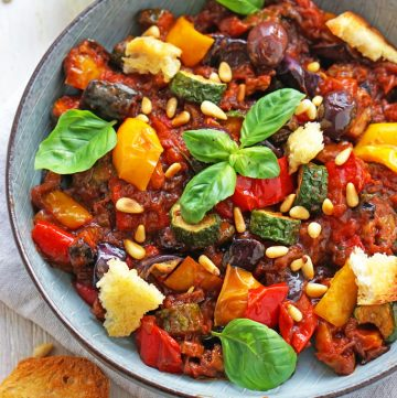 Caponata – Sizilianisches Auberginengemüse