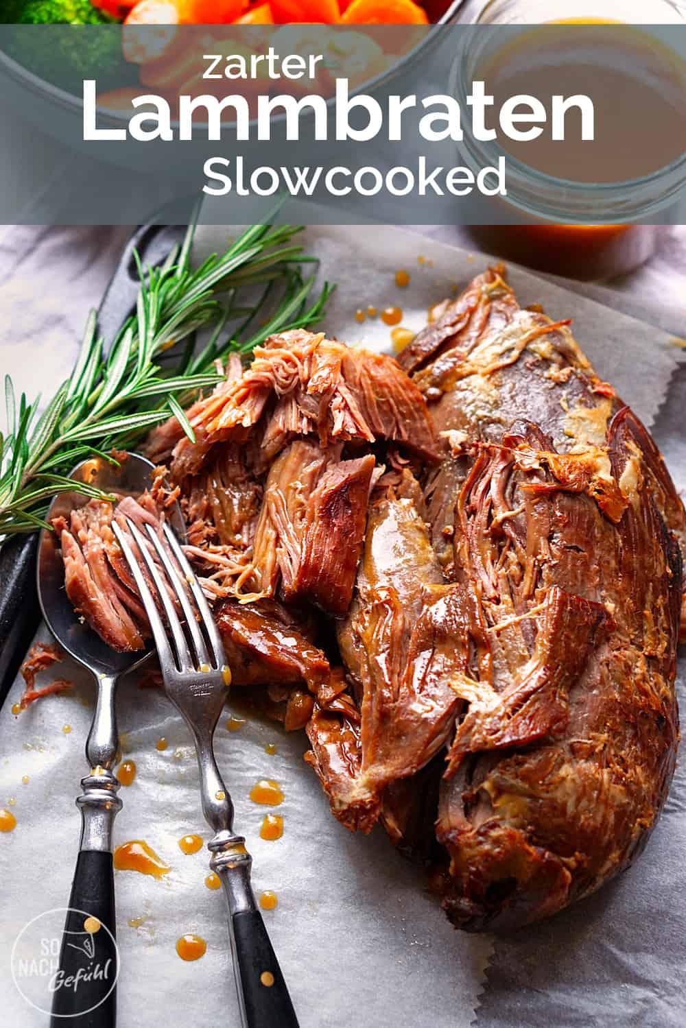 Slowcooked Lammkeule aus dem Ofen