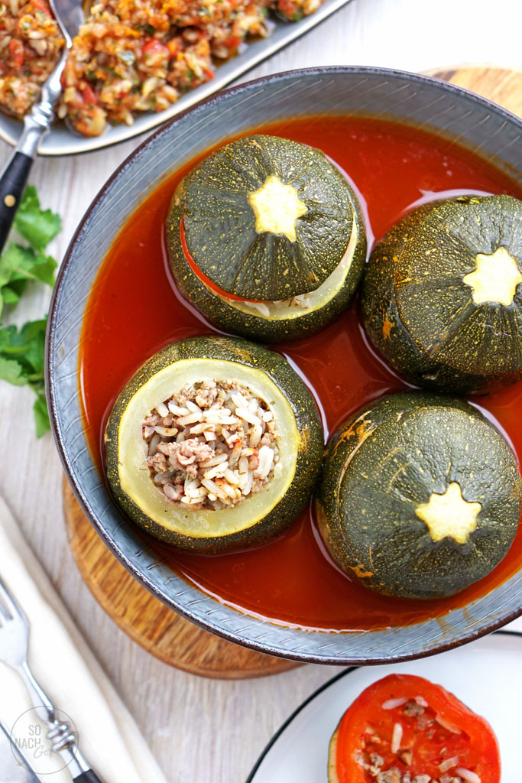 Kabak Dolması – Gefüllte runde Zucchini