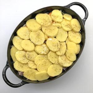 letzte Kartoffelschicht